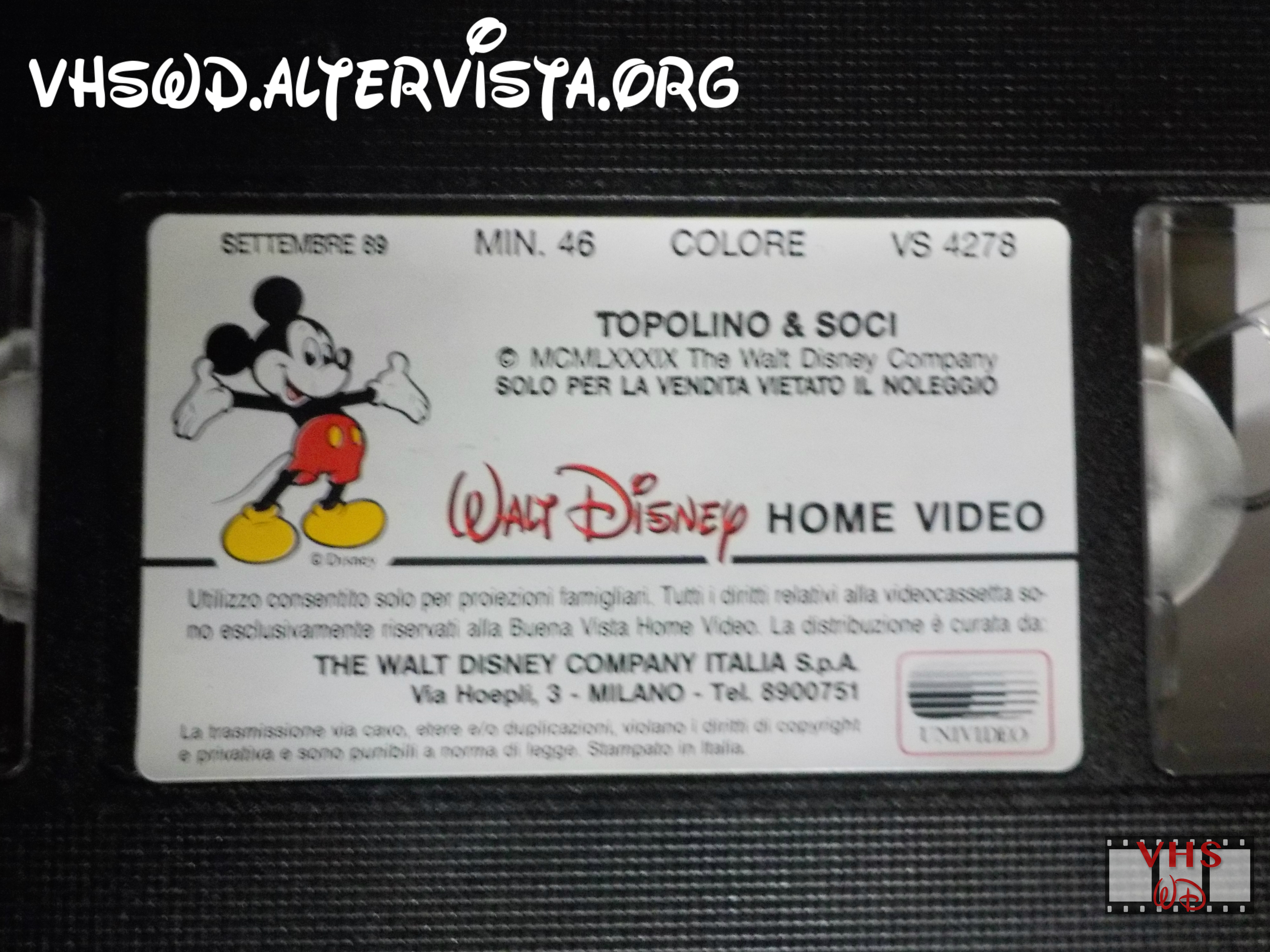 Design vhs walt disney